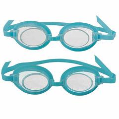Blue Wave 3D Action Kids Swim Goggles - 2 Pack