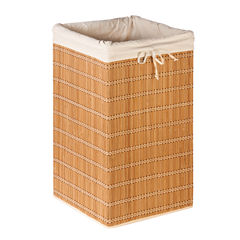 Honey-Can-Do® Square Bamboo Wicker Hamper