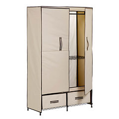 Honey-Can-Do® Double-Door Clothing Storage Closet w/ Drawers