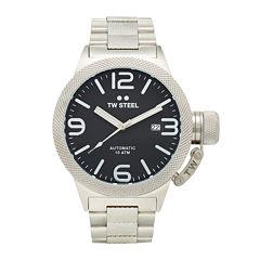 TW Steel Canteen Bracelet Mens Black Dial Two-Tone Stainless Steel Link Watch