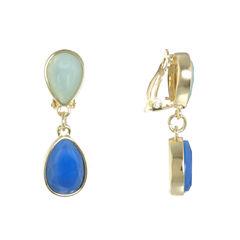 Liz Claiborne Multi Color Clip On Earrings