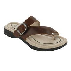 Eastland® Tahiti Leather Flat Sandals