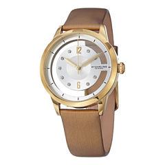 Stuhrling Womens Gold Tone Strap Watch-Sp15173