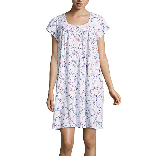 Adonna Short Sleeve Floral Nightgown