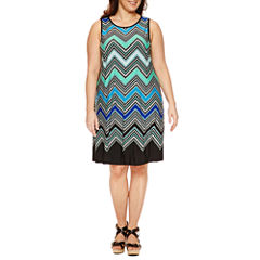 Ronni Nicole Sleeveless Sundress-Plus