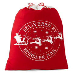 North Pole Trading Co. Christmas Cheer Delivered By Reindeer Santa Bag