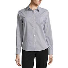 Liz Claiborne® Long-Sleeve Button-Front Shirt - Tall