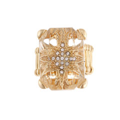 Mixit™ Crystal Gold-Tone Stretch Ring