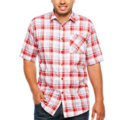 Ecko Unltd Ecko Short Sleeve Plaid Button-Front Shirt-Big and Tall