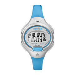 Timex® Ironman Womens Blue Resin Strap Chronograph Sport Watch T5K739