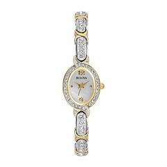 Bulova® Womens Crystal Accent Bracelet Watch 98L005