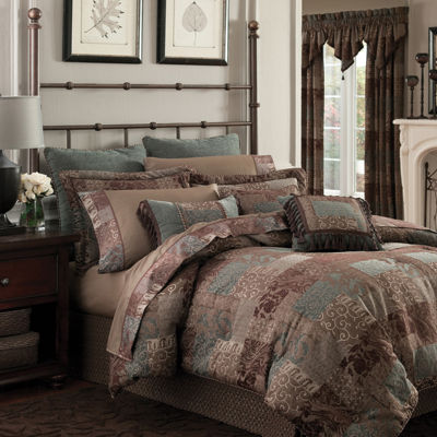 croscill classics catalina brown 4pc chenille comforter set