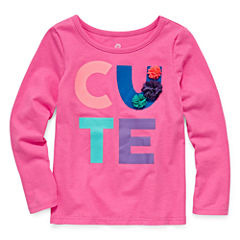 Okie Dokie Graphic T-Shirt-Toddler Girls