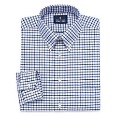 Stafford Travel Wrinkle-Free Oxford Long Sleeve Dress Shirt