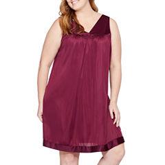 Vanity Fair Tricot Sleeveless V Neck Nightgown