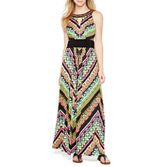 Ronni Nicole Sleeveless Embellished Maxi Dress
