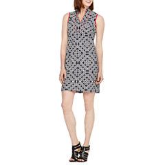 Jessica Howard Sleeveless Geometric Shift Dress
