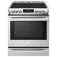 LG 6.3 cu. ft. Electric Slide-In Range with Warming Drawer and Induction Cooktop