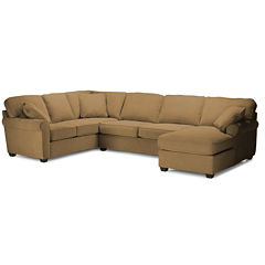 Fabric Possibilities Roll Arm 3-Pc Right Arm Corner Sofa Sectional