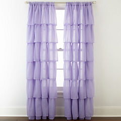 Home ExpressionsTM Delia Ruffle Rod Pocket Sheer Curtain Panel