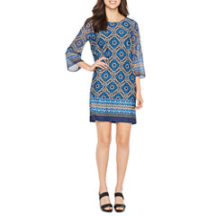 Alyx 3/4 Sleeve Diamond Shift Dress