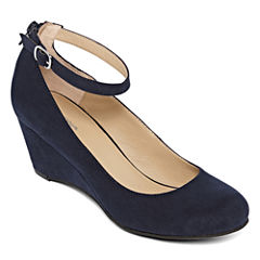 Arizona Laflin Ankle-Strap Wedge Pumps