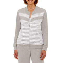 Alfred Dunner Long Weekend Lightweight Softshell Jacket-Petites