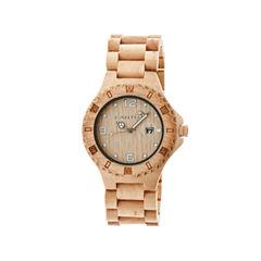Earth Wood Raywood Khaki Bracelet Watch With Date Ethew1701