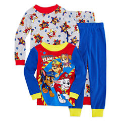 Paw Patrol 4 PC Pajama Set - Toddler Boys