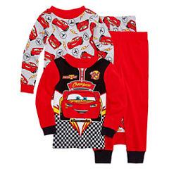 Cars 4 PC Pajama Set - Toddler Boys
