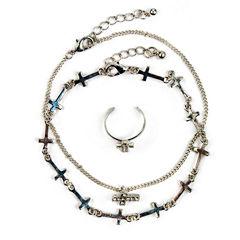 Arizona Womens 3-pc. Clear Jewelry Set