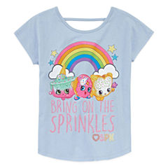 Shopkins Bring Sprinkles Short Sleeve Tee- Big Kid Girls
