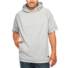 Msx By Michael Strahan Short Sleeve Knit Hoodie-Big and Tall