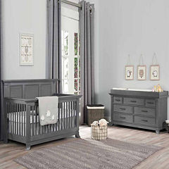 Ozlo Baby Pendelton 2-PC Baby Furniture Set- Marble Gray