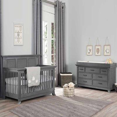 Elegant Ozlo Baby Pendelton 2 PC Baby Furniture Set  Marble Gray