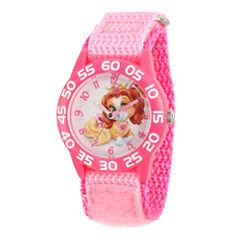 Disney Girls Palace Pets Pink Teacup Time Teacher Strap Watch W002824
