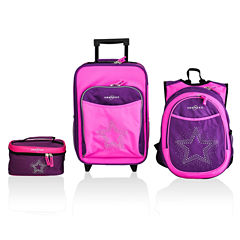 Obersee® Little Kids 3-pc. Bling Star Luggage, Backpack & Toiletry Bag Set