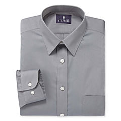 Stafford® Comfort Stretch-Big & Tall Long Sleeve Dress Shirt