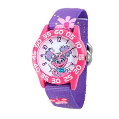 Sesame Street Girls Purple Abby Cadabby Flower Time Teacher Strap Watch W003190