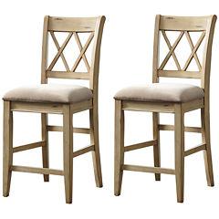 Signature Design by Ashley® Madison Set of 2 Upholstered Barstools