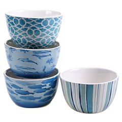 Certified International Sea Life Set of 4 Ice Cream Bowls