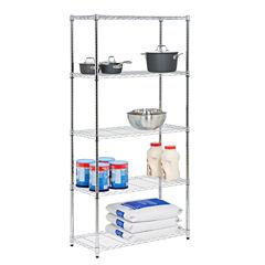 Honey-Can-Do 5-Tier Chrome Storage Shelves 18X36X72