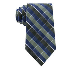 Stafford® Lakefront Mesh Plaid Silk Tie