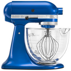 CLOSEOUT! KitchenAid® Artisan® Design Series 5 Quart Tilt-Head Stand Mixer with Glass Bowl - KSM155GBEB