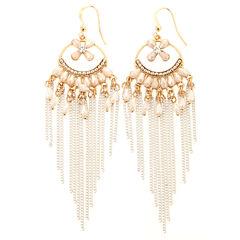 Natasha Accessories Clear Drop Earrings