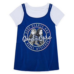 Short Sleeve Round Neck Descendants T-Shirt-Big Kid Girls