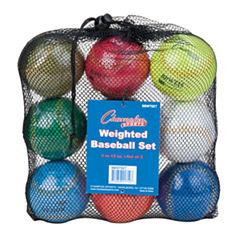 Champion Sports Weighted Training Baseball Set of9