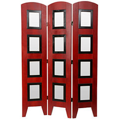 Oriental Furniture 4.5' Photo Screen 3 Panel RoomDivider