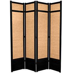 Oriental Furniture 7' Jute Shoji 4 Panel Room Divider
