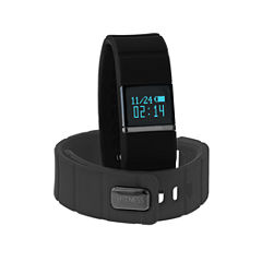 Ifitness Ifitness Activity Tracker Black/Black And Charcoal Gray Interchangeable Band Unisex Multicolor Strap Watch-Ift5417bk668-734